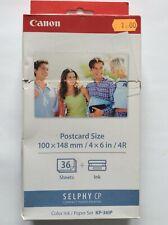 KIT CANON SELPHY CP KP-36IP CARTA FORMATO POST CARD 10 X 15 + CARTUCCIA