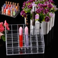 New 24 Clear Acrylic Cosmetic Display Stand Makeup Lipstick Organizer Holder SY