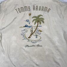 Tommy Bahama Mens XL Paradise Open Golf Embroidered Tropical Hawaiian Camp Shirt