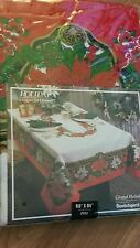 CHRISTMAS TABLECLOTH-NIP- 60x84 GRAND HOLIDAY