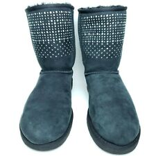 UGG Australia Womens 9 Classic Short Bling Black Boots 1003890