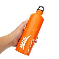 Outdoor Camping Hunting Alcohol Liquid Gas Tank Fuel Storage Bottle 750ml K5A5
