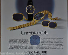 1976 Patek Philippe watch advertisement, Golden Ellipse, European advert