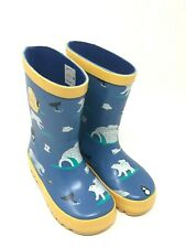 Stormwells Blu Navy Ragazzi Elicottero Kids Bambini Stivali di gomma Wellington Boots