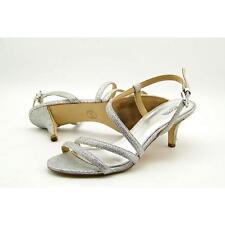 Michelle Kors Irene Mid Sandal Glitter White/silver Size 10 EU 41