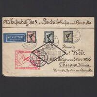 GERMANY 1930, DOX Flight on cover Germany to USA via Rio