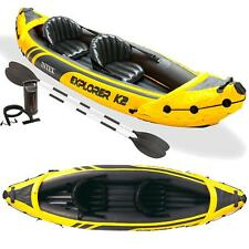 Intex 68307 Kajak Explorer K2 Set 2 Personen Schlauchboot + Alu Paddel Pumpe