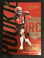 D9 2018 Absolute Football #150 Antonio Callaway RC Cleveland Browns