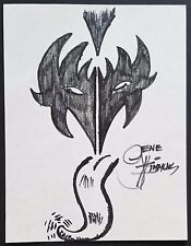 GENE SIMMONS KISS SIGNED ORIGINAL CHARITY DOODLE SKETCH ART THE DEMON TONGUE