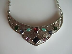 STERLING SILVER & MULTI GEMSTONE PENDANT
