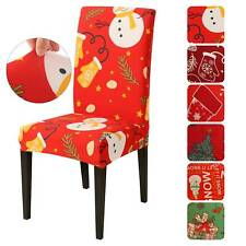 NEW Chair Covers Dining Seat Cover Stretch Spendex Christmas Slipcover Decration