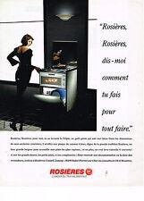 PUBLICITE  ADVERTISING  1993    ROSIERES  lave vaisselle four cuisinière