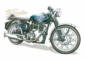 Velocette Thruxton Venom Greeting Card, A6 size