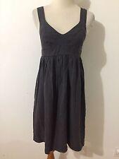 Lands' End Canvas 1969 Sleevless Dress Sundress Gray Size 0