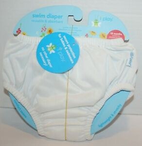 NWT iplay Baby Toddler Swim Diaper Washable Reusable Absorbent Pull On 18m