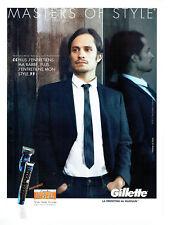 Publicité Advertising 078  2012  rasoir Gillette proglide styler & Gael G Bernal