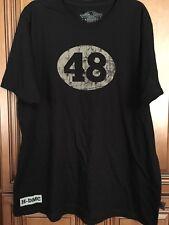 New 2XL B48 Harley Davidson HD Number 48 Willie G Mens Black Shirt 2XL
