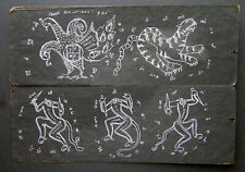 Antique Burmese Esoteric Tattoos Manuscript Parabaik
