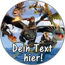 Tortenaufleger Dragons Wächter Reiter von Berk DVD Deko NEU Drachen mit Namen cd