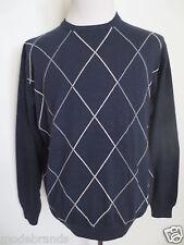 Rundhals Pullover PAUL ROSEN XL ca 52 PIMA Baumwolle Kaschmir dunkelblau/K