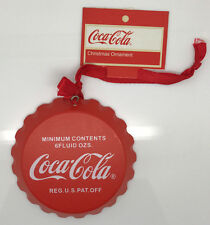 Coca-Cola Retro Wooden Bottle Cap Hanging Christmas Ornament - Real Coke Product