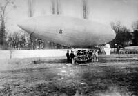 OLD AVIATION HISTORY PHOTO The Santos dumont Dirigible Airship No 16