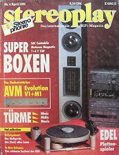 Stereoplay 4/91 T+A  Criterion T 230, Linn LP 12 Lingo, Zarathustra S4, AVM Evo