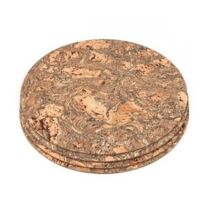 Natural Pattern Cork Round Placemats  30cm Pack of 8