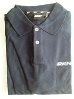 DKNY Active Polo-Shirt Herren Kurzarm Dunkelblau Unifarben Baumwolle Gr. L