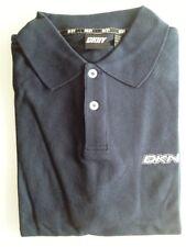 DKNY Active Polo-Shirt señores manga corta azul oscuro monocromo algodón talla L