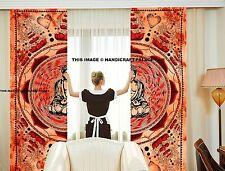 Buddha Curtain Indian Mandala Tapestry Wall Hanging Ethnic Valances Decor Set
