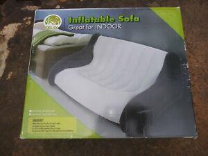 """Jilong Relax Flocked Vinyl Inflatable Sofa~ #JL031197~ 65""""x45.5""""x30""""~ Brand New"""