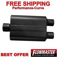 """Flowmaster Original 40 Series Muffler 409 Stainless 3"""" C / 2.5"""" D 80430402"""