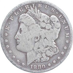 Early - 1880-S Morgan Silver Dollar - 90% US Coin *069