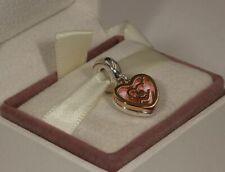 Genuine Rose Gold PANDORA Path to Love Heart Dangle Charm - 787801NBP ALER