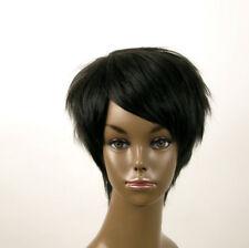 perruque afro femme 100% cheveux naturel courte noir ref JEAN 03 1B