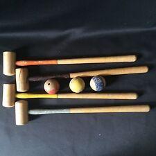 JEU DE CROQUET ANCIEN/ ANCIENT CROQUET GAME