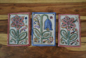 Töpferei Keck Keramik Wandtafel Tafel Fliese Kachel  Landhausstil handgemalt