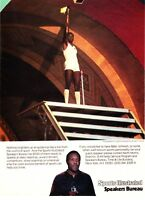 1985 Olympian Rafer Johnson photo Sports Illustrated Speakers promo print ad