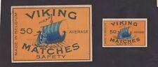 Ancienne étiquette Allumettes Belgique  BN25099 Drakar Bateau Viking