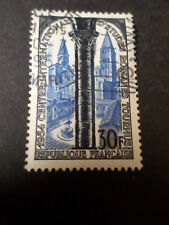 FRANCE 1954 timbre 986, EGLISE ST PHILIBERT, oblitéré, VF STAMP, CHURCH