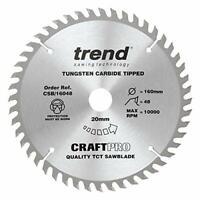 Trend CSB/16048 Craft Pro Trimming Crosscut TCT Blade Ideal for Metabo, Bosch,