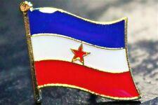 YUGOSLAVIA Yugoslavian Metal Flag Lapel Pin Badge *NEW*