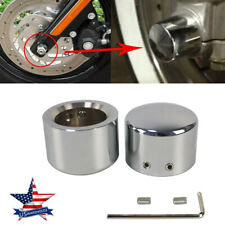 Chrome Front Axle Cap Nut Cover For Harley Softail Dyna Touring Street Glide XE
