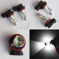 H11 LL 80W Super Bright White LED Fog Light Bulbs Xenon HID FG VE 2 YR Warranty