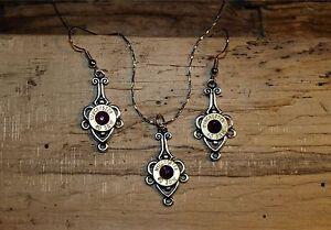 Handmade Bullet Necklace & Earrings, Nickel 38's & Crystal S-611