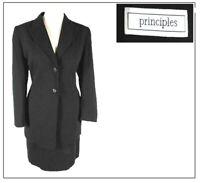 Principles 1990s Ladies Suit Skirt size 14 & Jacket 12 (vtge 18 16)Black stripe