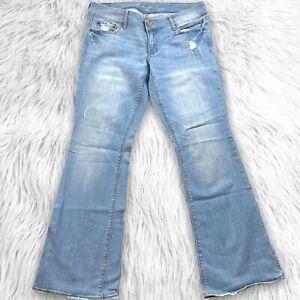 American Eagle Artist Light Wash Boot Cut Jeans Size 12 Blue
