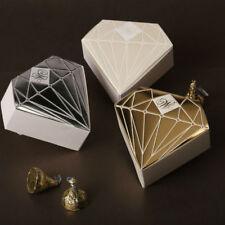 Silver Gold Elegant Wedding Engagement Bridal Bomboniere Diamond Favour Box