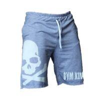 Summer Men Skull Cotton Shorts Sport Running Bodybuilding Fitness Short Pants